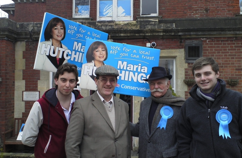 Hendon conservatives doing their bit for Maria Hutchings in Eastleigh